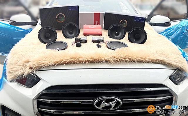 赤峰大宽现代ix35汽车音响改装黄金声学 优美细腻
