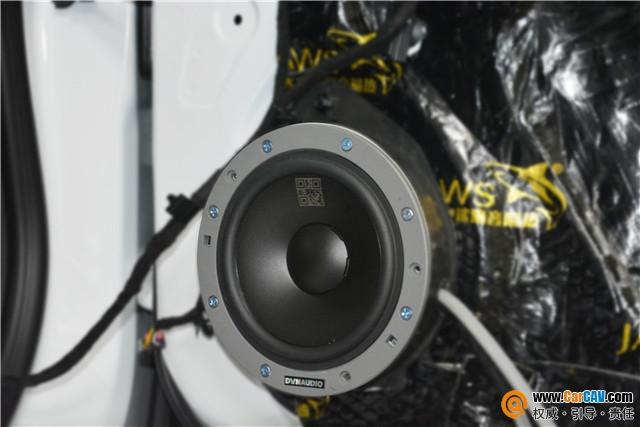 苏州广东仔别克君越汽车音响改装丹拿232两分频+JB