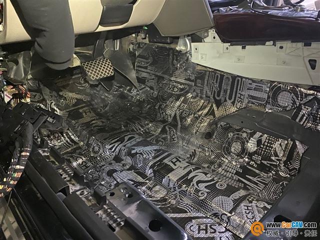 洛陽道聲奧迪A6汽車隔音改裝StP 祛除異味