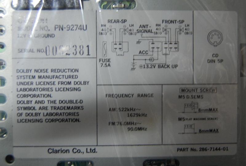 求 歌乐pn 2114b的接线图 音响维修 汽车影音网论坛 汽车音响改装升级高清图片