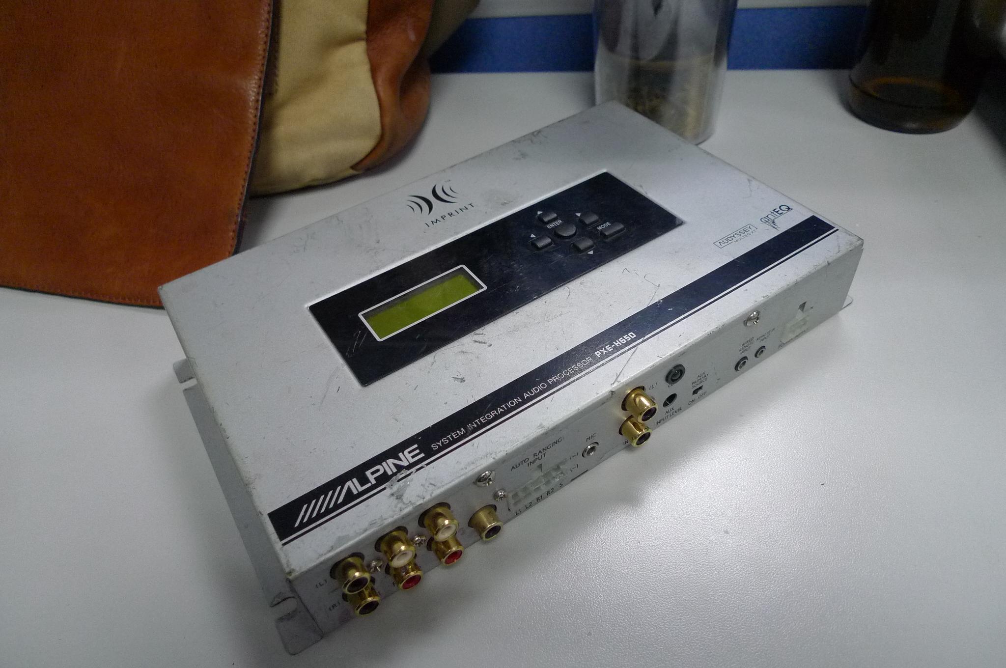 阿尔派pxe h650音频处理器,进口马3bose喇叭功放 汽车影音网高清图片
