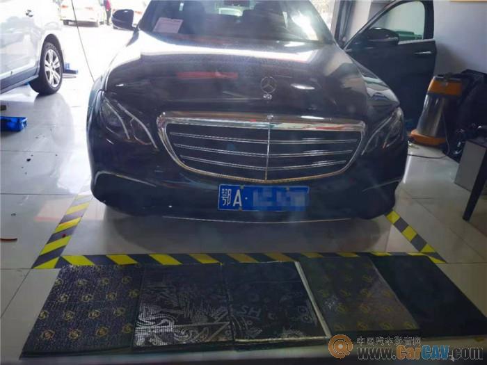 三种噪音一次解决 武汉歌德奔驰E300汽车隔音改装STP