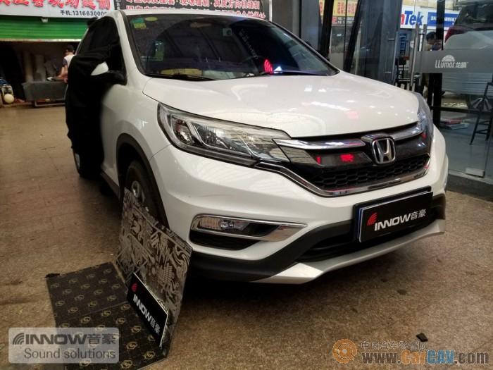 针对噪音处理问题!上海音豪本田CRV汽车隔音改装STP