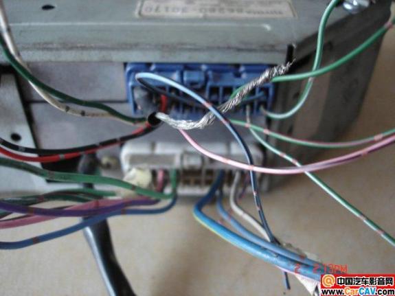 丰田皇冠3.0的原车功放86280 30170 接线图 音高清图片
