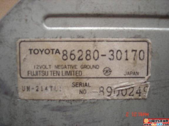 求老丰田皇冠3.0的 原车功放 86280 30170 接线高清图片