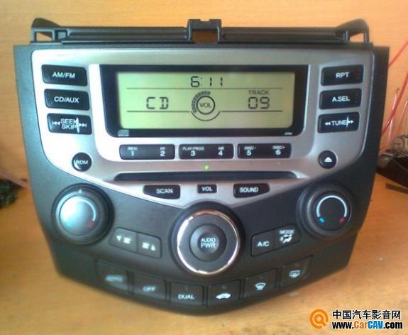 桂林出售 本田七代雅阁原车单碟CD音响带空调面板 一台1000元高清图片