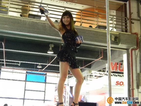 『汽车用品宣传策划』巧用美女拉人气 上海展再现热辣钢管舞娘 - 太能团队 - 《汽车美容店金牌店长》