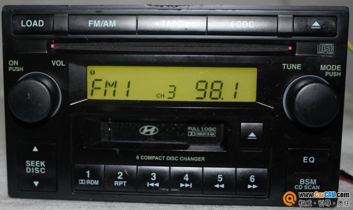请教北京现代途胜老款接cd松下超薄低音炮不懂接线高清图片