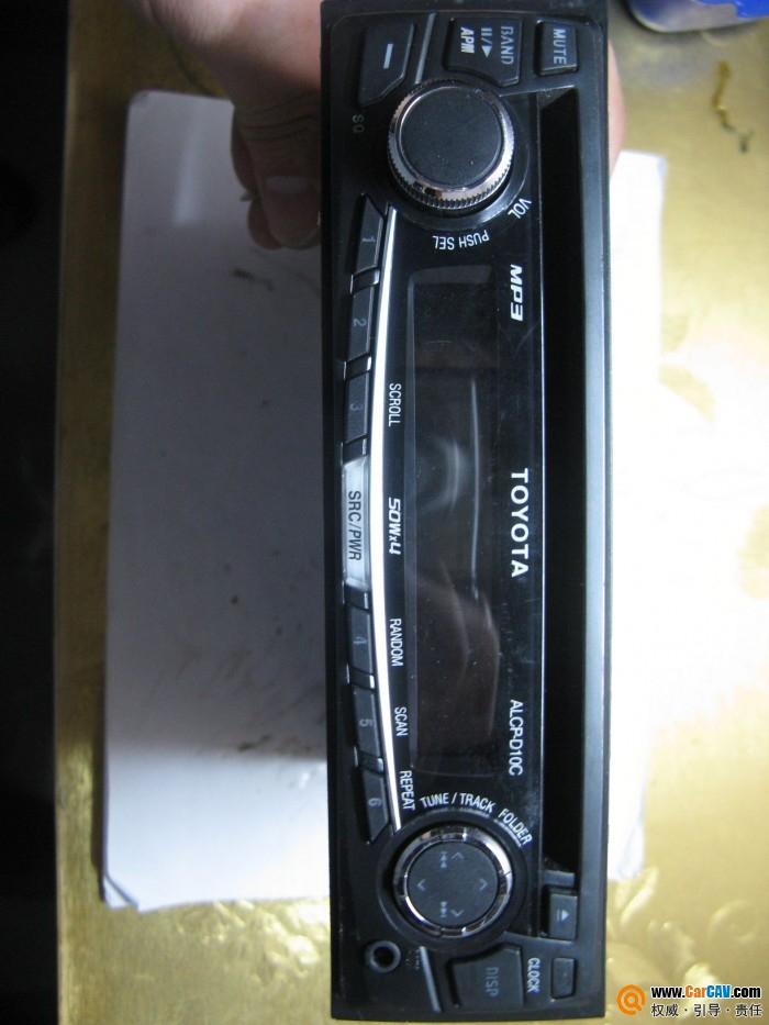 丰田cd,成色很好,没有尾线的,有接线说明,试机了,读碟很好,功能高清图片