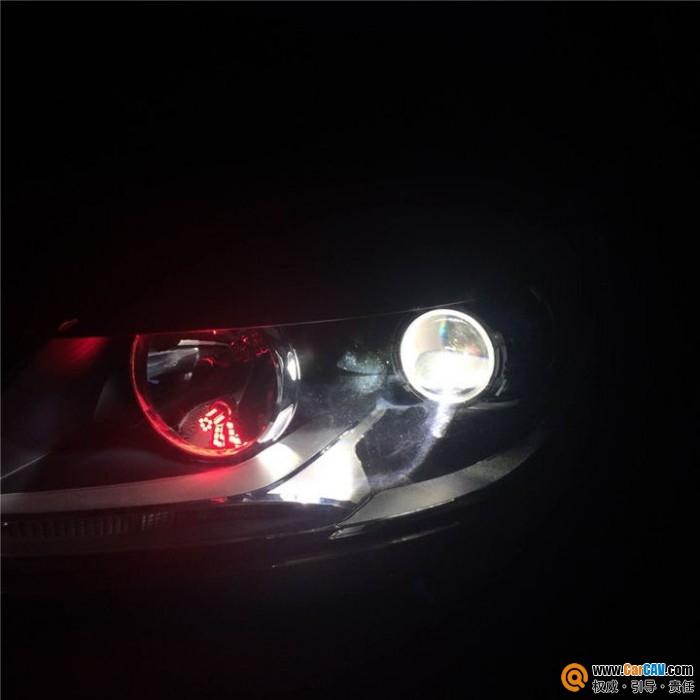 大灯改装 大众途安来港龙升级改装Q5双光透镜 汽车影音网论坛 汽车高清图片