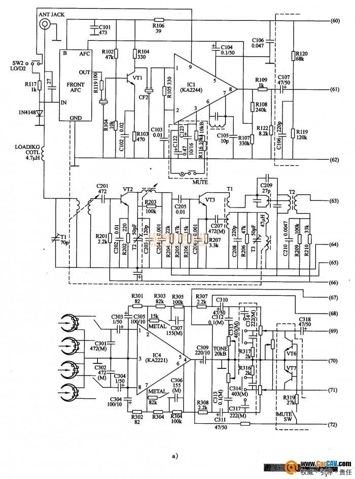 宝凌JM-750型汽车音响AM波段故障处理
