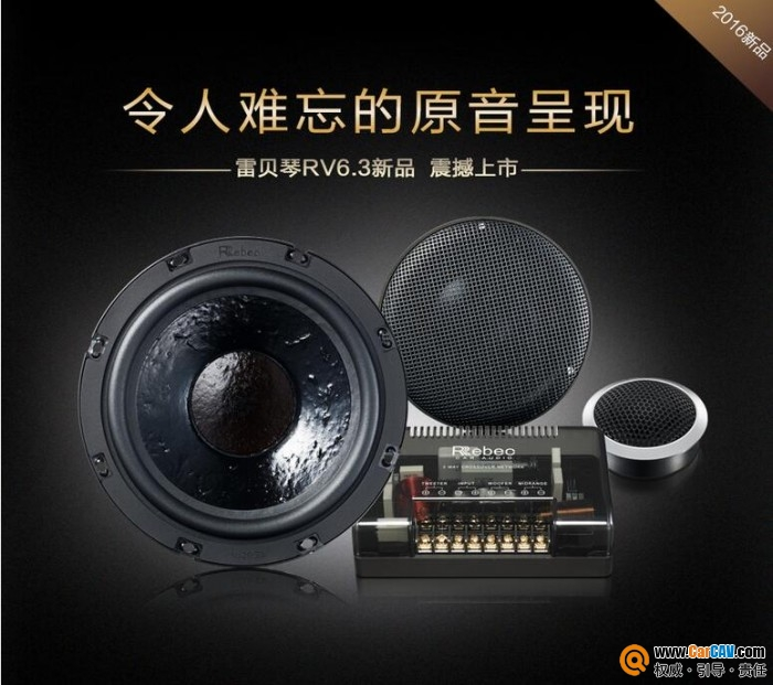 中国Rebec雷贝琴RV6.3车载套装喇叭扬声器