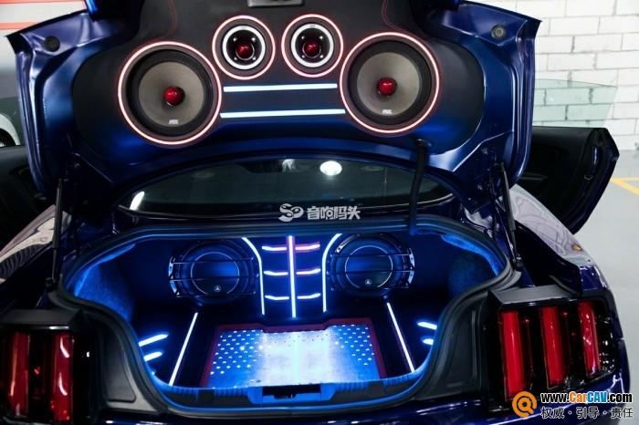 佛山音響碼頭福特野馬汽車音響改裝勁浪 完美工藝