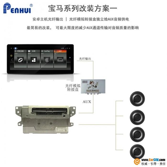 朋辉宝马光纤5.1系统改装,三种方案总有一款适合你