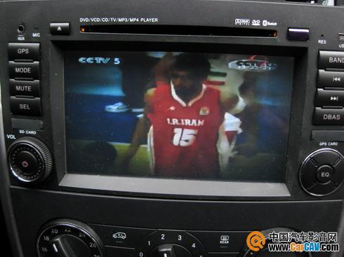 飞锋奔驰b200专用dvd导航机实测效果图(上海